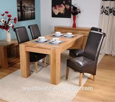 chêne massif table à manger et une chaise pour restaurant et salle