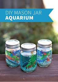 Mason Jar Aquarium Cute And Easy Diy Craft Projects For Kids By
