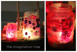 Tissue Paper And Jam Jar Luminaries Craft Activity For Kids