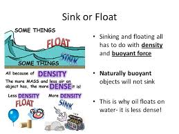 Materials Sink Or Float by All Objects Experience A Buoyant Force When Immersed In A Fluid