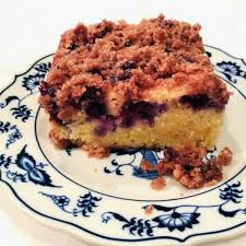 s german blueberry cake with streusel