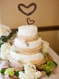 Image Via Floridian Weddings White Wedding Cake Rustic Accents