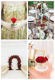 20 Elegant Red And Gold Wedding Ideas