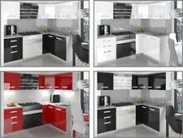 details zu eck küchenzeile l form kompakto iii hochglanz verschiedene farbkombinationen