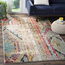 Safavieh Monaco Collection Modern Bohemian Multicolored Distressed Area Rug 67quot X 9