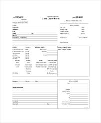 Sample Free Printable Order Form 9 Examples in Word PDF