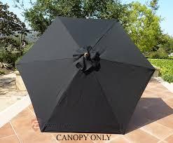 9 Ft Patio Market Umbrella by Patio Umbrella Replacement Cover Canopy 6 Ribs Black