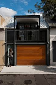 100 Sydney Terrace House A Bold Black And Wood Exterior Was Given To This Terrace House In