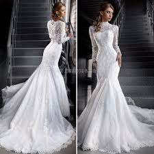 love the charming beaded flowers lace mermaid wedding dresses