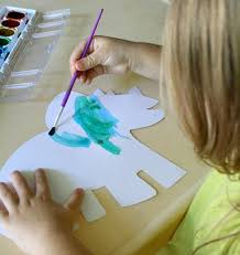 Toddler Painting Dinosaur Activities