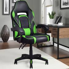 100 Wood Gaming Chair Costway Costway Executive Racing Style PU Leather High