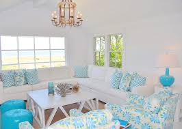 Grey White And Turquoise Living Room by Nantucket Natural Island Outdoor Colors Inisde A Small Beach