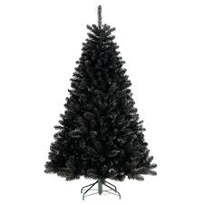 Black Artificial Christmas Tree Trees With Lights