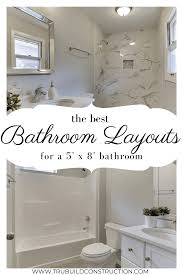 the best 5 x 8 bathroom layouts and designs to make the