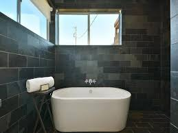 charcoal slate tile modern bathroom bellfia