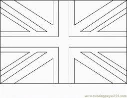 Drawing British Flag Coloring Page