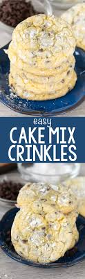 Easy Cake Mix Crinkle Cookies Crazy for Crust
