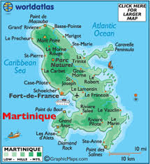 Map Of Martinique Caribbean Islands Bucket List Travel To The Places Named In Song Kokomo