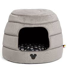 Cuddler Dog Bed by Mickey Mouse Honeycomb Hut Pet Bed Gray Jumbo Shopdisney