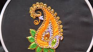 Hand Embroidery Aari Style For Ghagras Dresses Sarees And Blouses