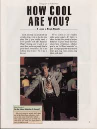 Dave And Busters Halloween Toronto by How To Be Cool According To A Game Magazine From 1982