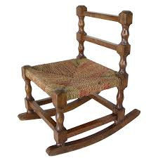 Rare Antique Rocking Chair For Children American Rocker For Child Or Toy  Bear