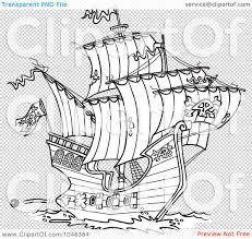 100 Design A Pirate Ship RoyaltyFree RF Clip Rt Illustration Of A Cartoon Black
