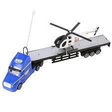 100 Rc Semi Trucks And Trailers Amazoncom Blue Truck Trailer 20 Hauler Remote Control RC