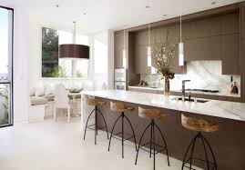InteriorMinimalist White Living Room With All Elements On Glossy Glooring Kitchen Space