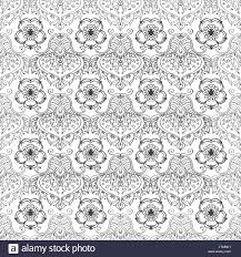 Seamless Pattern With Ornamental Flowers