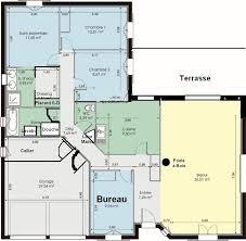 plan maison plain pied 3 chambres en l plan maison gratuit plain pied 3 chambres plan maison plain