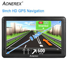 100 Gps Truck Route 9inch HD AONEREX GPS Navigation For Car Capacitive Big Touchscreen 2019 Upgraded Version Voice TrunbyTurn Guidance Speed Limit