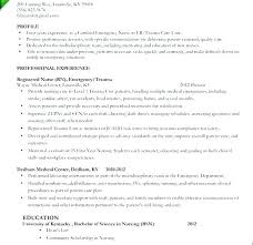 Resume Nurse Sample Objectives For Nurses Nursing Resumes Of