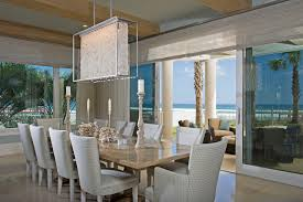 House Modern Beach Style Homes Coastal Kitchen And Dining Room