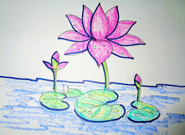 Drawing Lotus Flower With Leaf How To Draw Lotus Step By Step – Easy Drawing