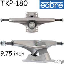 SABRE TKP-180 Skateboard Trucks Longboard Freeride Pool 180mm Silver ...