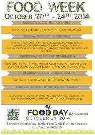Food Week Binghamton Univ Poster