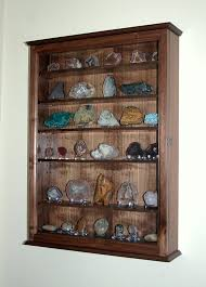 Mineral Rock Geode Display Case Wall Cabinet