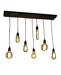 Rustic Pendant 7 Bulb Industrial Chandelier Lights Urban Modern Lighting For Dining Room