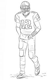 Football Player Coloring Page Free Printable Pages For Kids Best Images