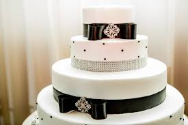 Black White And Silver Wedding Cakes Photo