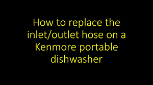 Sears Portable Dishwasher Faucet Adapter by Portable Dishwasher Hose Replacement Youtube