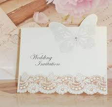Laser Cut 3D Diamante Butterfly DIY Pearlescent Vintage Wedding Invitations With Quality Envelopes Inserts X Pack Of 10 Amazoncouk Kitchen Home