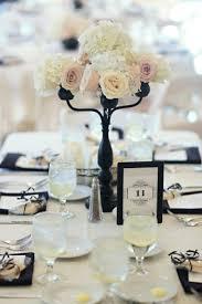 black and white table decor blacktie blackandwhite weddings