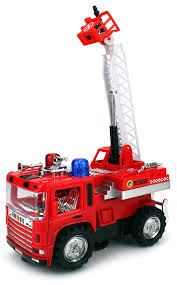 100 Pumper Truck Fire Rescue Battery Operated Bump And Go Toy W