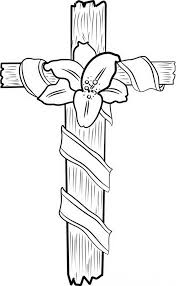 Good Friday Coloring Pages A Cross With Flower