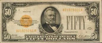 Brown Seal Fifty Dollar Bills