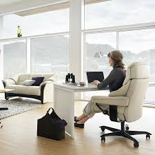 bining your sofa sitting area with your home office is a great