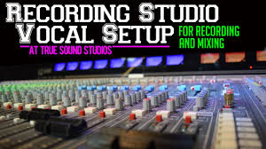 Recording Studio Vocal Setup For Mixing At True Sound Studios