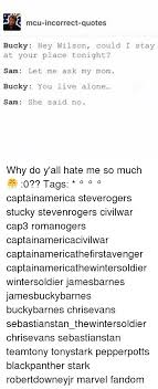 Memes Hate Me And Mcu Incorrect Quotes Bucky Hey Wilson